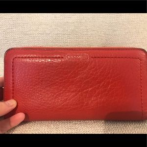 Coach Coral Pebbled Leather Wallet